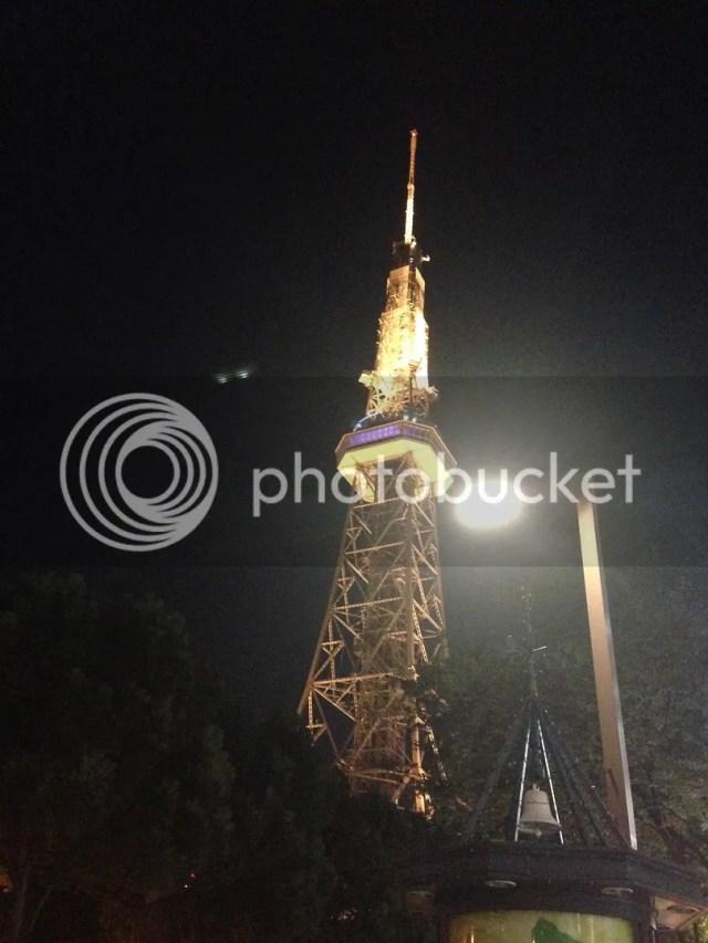When I got home from Nagisaen, here's Nagoya TV Tower again greeting me!