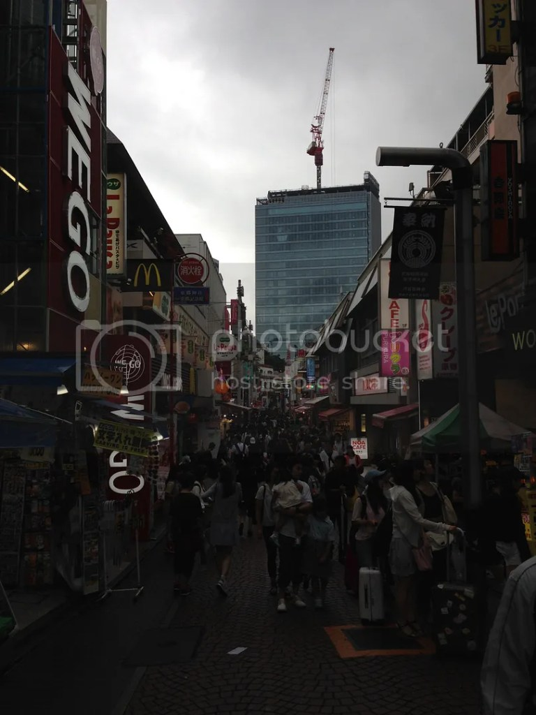Since I went here on a rainy afternoon, this is the photo of Takeshita Street... Never without people this place is