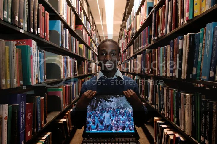 Sadik Antwi-Boampong recently established the first library in a poor town in Ghana.