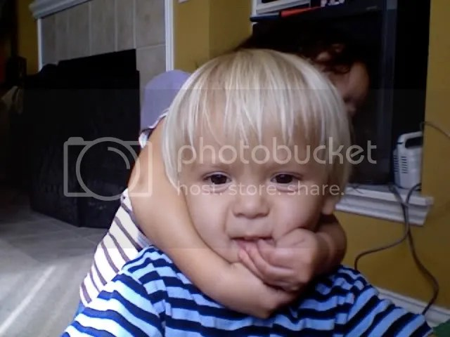 A hug or a headlock?