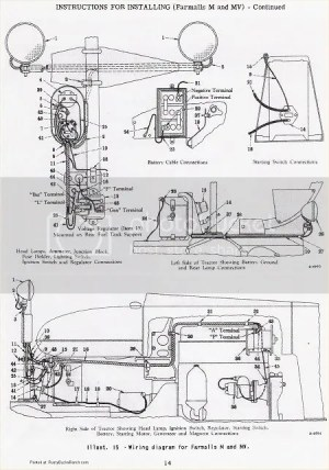wiring diagram for a M farmall  Farmall Cub