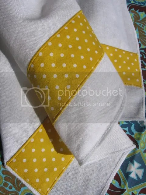 yellow burp cloth