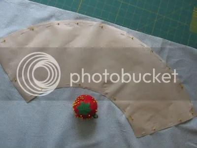 pin pattern to fabric