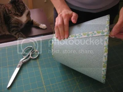cover seam with ribbon