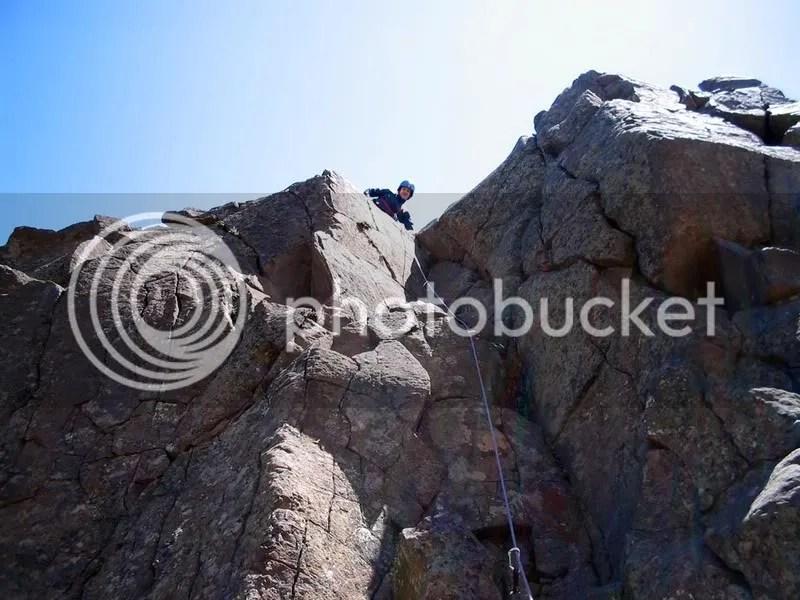 Climbing at Horsethief Butte