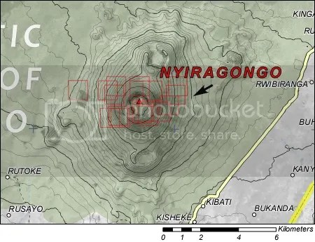 Nyiragongo - UNOSAT map, 4 May 2009