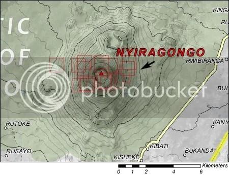 Nyiragongo - UNOSAT map, 4 May 2009