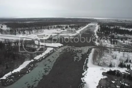 Drift River Oil Terminal, 23 March 2009 (AVO/USGS).