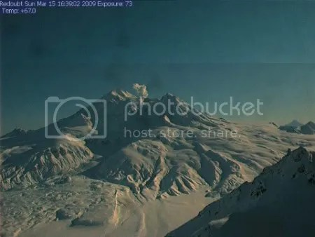 Redoubt 15 March 2009, 1639 (AVO Hut webcam)