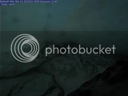 AVO Redoubt Hut webcam, 23 March 2009 20-25-03