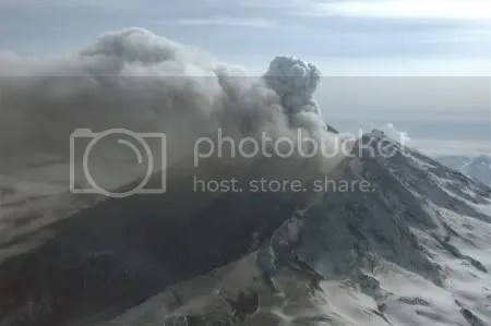 Redoubt volcano, 31 March 2009 (photographer Game McGimsey, image courtesy AVO/USGS)