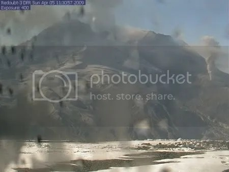 Redoubt DFR Webcam, 5 April 2009, 11:30:57 AKDT (AVO)
