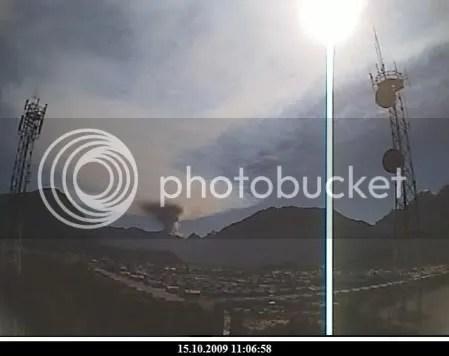 Chaiten volcano, 15 October 2009, 11:06