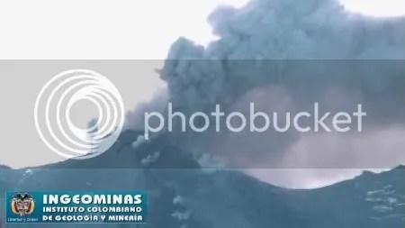 Nevado del Huila - image from INGEOMINAS/FAC overflight, 23 October 2009 (copyright INGEOMINAS)