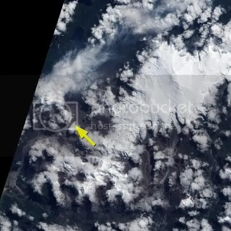 Chaiten volcano, 20 October 2009 (NASA EO-1 image)