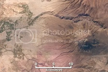 El Misti volcano and Arequipa, Peru, 16 October 2009 (NASA astronaut photograph)