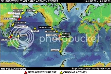 SI/USGS Weekly Volcanic Activity Report 10-16 June 2009