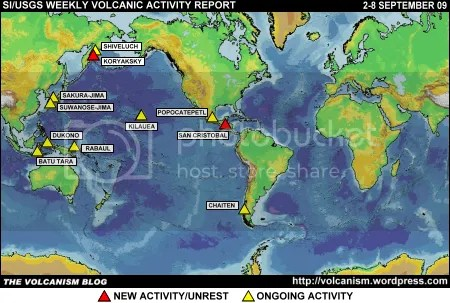 SI/USGS Weekly Volcanic Activity Report 2-8 September 2009