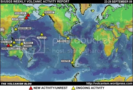 SI/USGS Weekly Volcanic Activity Report 23-29 September 2009
