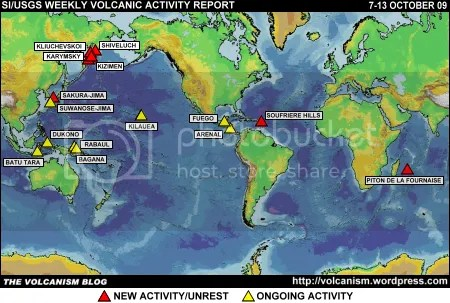 SI/USGS Weekly Volcanic Activity Report 7-13 October 2009