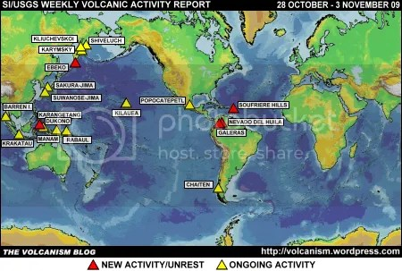 SI/USGS Weekly Volcanic Activity Report 28 October - 3 November 2009
