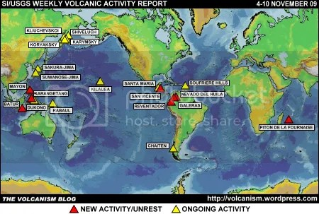 SI/USGS Weekly Volcanic Activity Report 4-10 November 2009