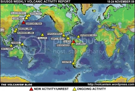 SI/USGS Weekly Volcanic Activity Report 18-24 November 2009