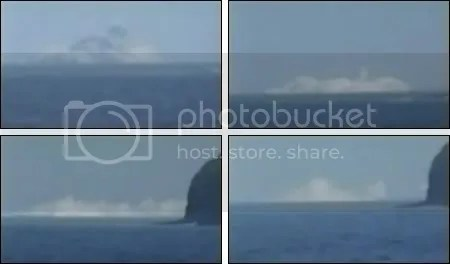 Fukutoku-Okanoba undersea volcano erupting, February 2010 (stills from Japanese Coastguard video)