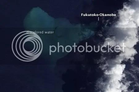 Submarine Volcano Fukutoku-Okanoba Erupts (NASA EO-1 image, 11 February 2010)