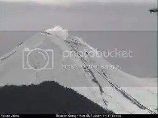 Llaima volcano, 18 November 2009 (OVDAS-SERNAGEOMIN)