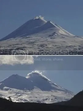 Laima volcano, 1 September 2009 (photographs by Victor Hazeldine)