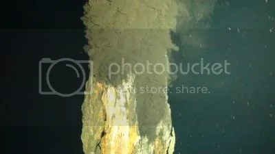 First photograph of the world's deepest known 'black smoker' vent, erupting water hot enough to melt lead, 3.1 miles deep on the ocean floor (National Oceanography Centre)