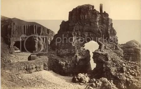 Carsaig Arches, Mull. Volcanic rocks. Taken by Valentine & Sons, 1892. (NERC)