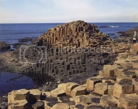 Giant's Causeway, looking north. Picture by J. M. Pulsford, 1969 (NERC/British Geological Survey)
