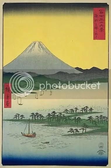 Utagawa Hiroshige, 'Miho no Matsubara in Suruga Province' (1858).