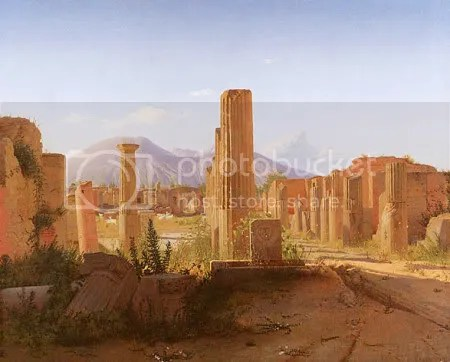 Christen Købke, 'The Forum, Pompeii, with Vesuvius in the Distance' (1841)
