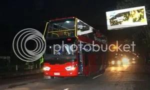Bus Saat Datang Melintas Jalan Ahmad Yani (Foto: JogloSemar/Kurniawan Arie Wibowo)
