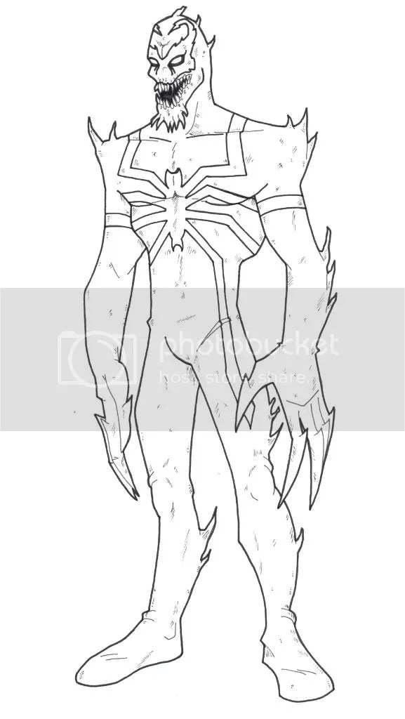 anti venom colouring pages