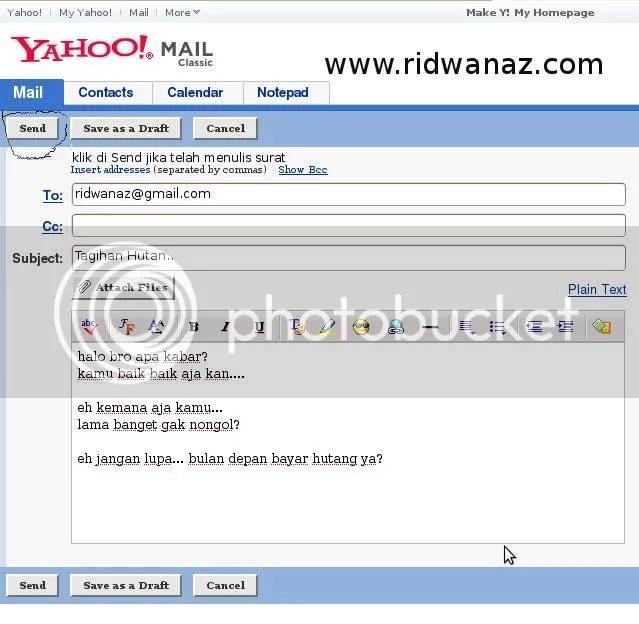cara mengirim email yahoo