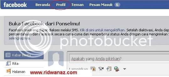 cara upload foto profile facebook