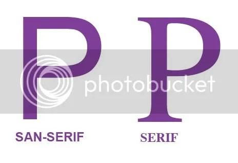Serif vs. San Serif Fonts