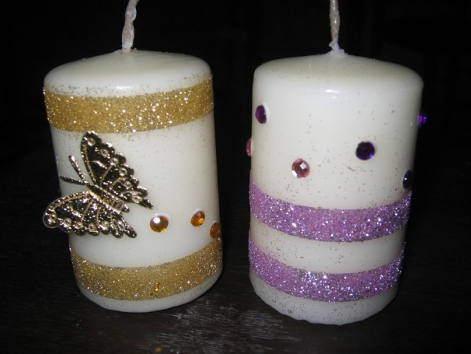 Diy Glittered Candle Sticks 14 Glitter Diys For Holiday Decoration