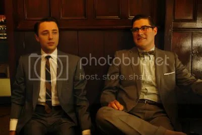 Two of the Mad Men guys in their suits