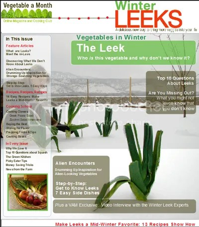 Vegetable A Month, Winter Leeks Issue