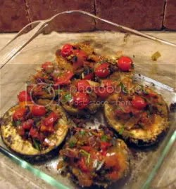 Breaded Eggplant with Herbed Tomato Topping