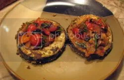 Breaded Eggplant with Fresh Tomato Topping