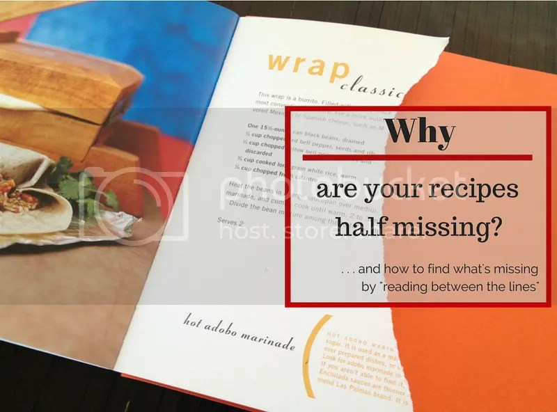 Your recipes might as well have half their pages ripped out!