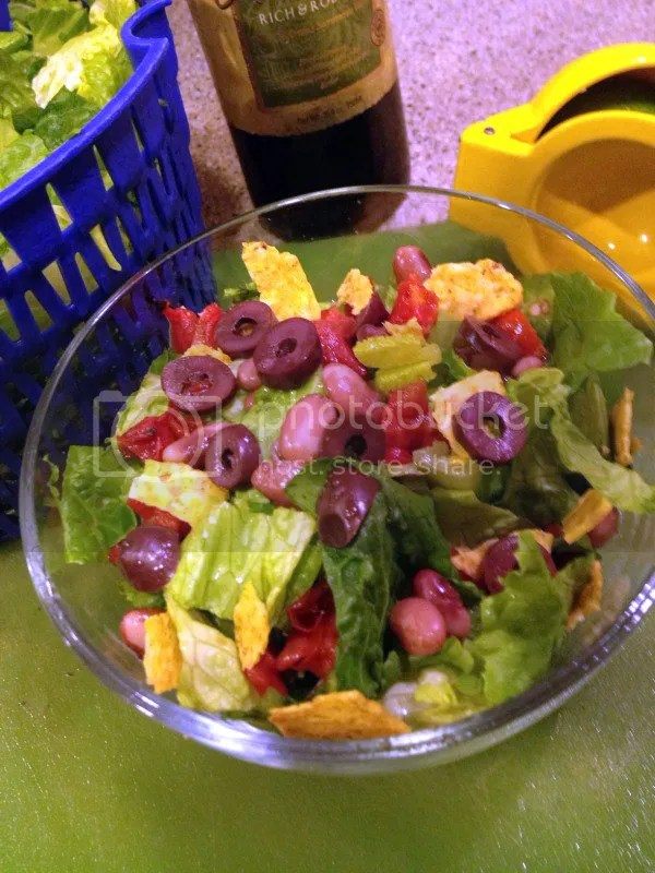 Winter Green Salad with Red Beans