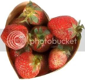 Heart Box of Strawberries