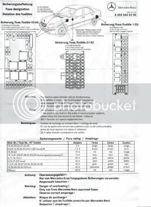 2004 Mercedes C230 Kompressor Fuse Diagram  Great Design